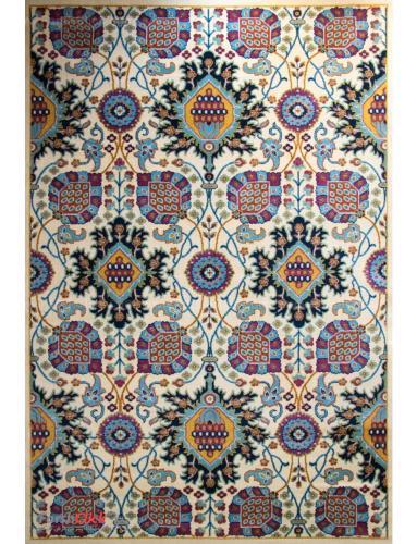 فرش مدرن فانتزی فرش ساوین -  ترنگ - قالیچه  کرم