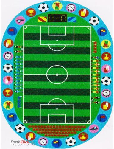 فرش کودک فرش ساوین -  زمین فوتبال - 9 متری  چند رنگ