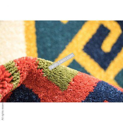 فرش ساوین پامچال سرمه ای اتاق پذیرایی