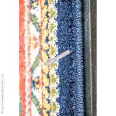 طرح باغی زمینه سرمه ایی فرش ساوین