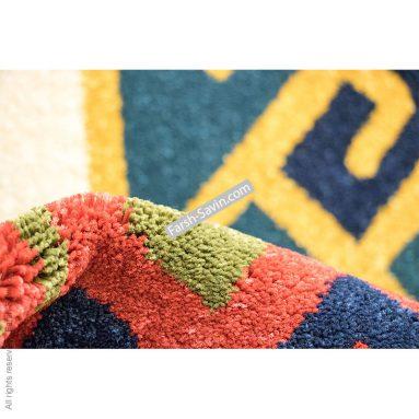 طرح پامچال سرمه ایی فرش ساوین