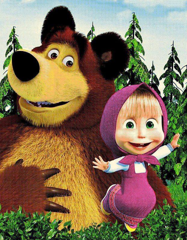 فرش کودک ماشا و خرس طرح 7502
