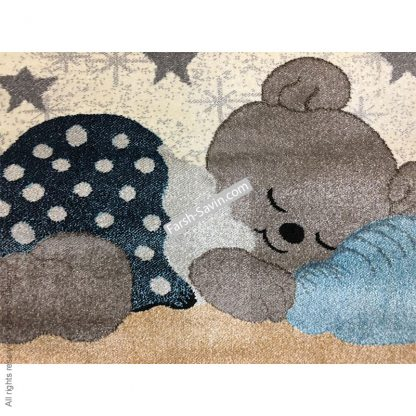 فرش ساوین 4035 خرس مهربان اتاق کودک