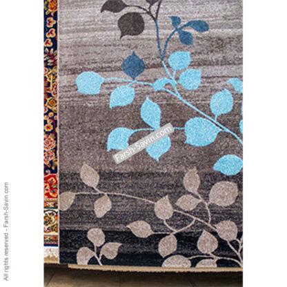 فرش ساوین 4001 شکلاتی مدرن فانتزی
