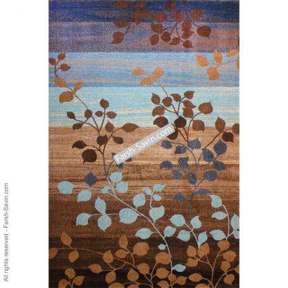 فرش ساوین 4001 شکلاتی پذیرایی