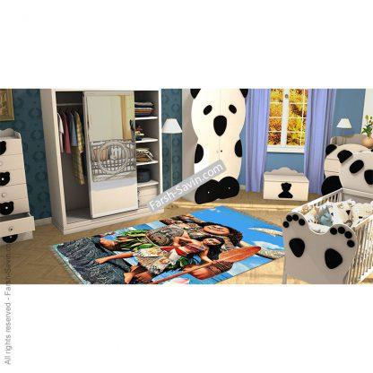 فرش دختر ماجراجو موآنا اتاق کودک 7501 فرش ساوین