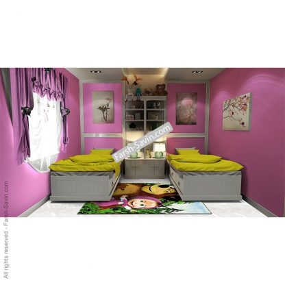 7502 ماشا و میشا فرش اتاق کودک ساوین