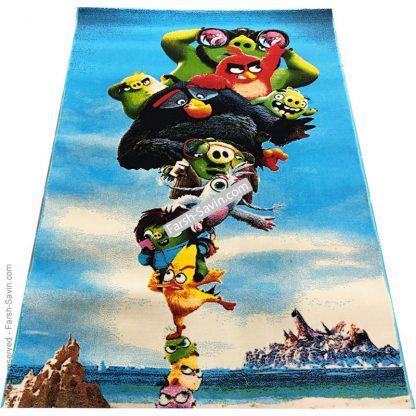 فرش پرندگان خشمگین اتاق کودک 7505 فرش ساوین