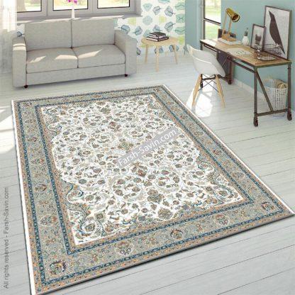 3002 کرم حاشیه فیلی فرش ساوین