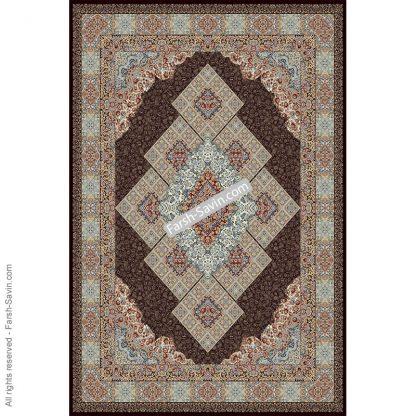 2051 قهوه ای فرش ساوین