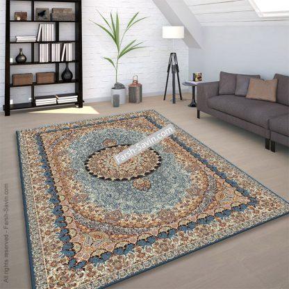 گل نما آبی فرش ساوین