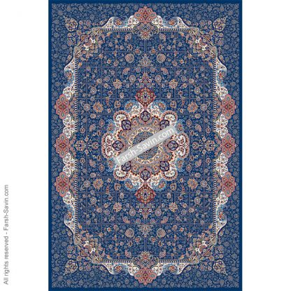 1575 آبی تیره فرش ساوین