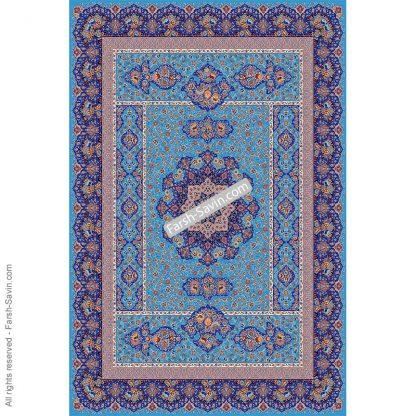 1576 آبی فیروزه ای فرش ساوین