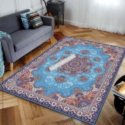 1577 آبی فیروزه ای فرش ساوین