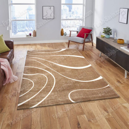 فرش ساوین سیوان شکلاتی 9 متری مدرن فانتزی
