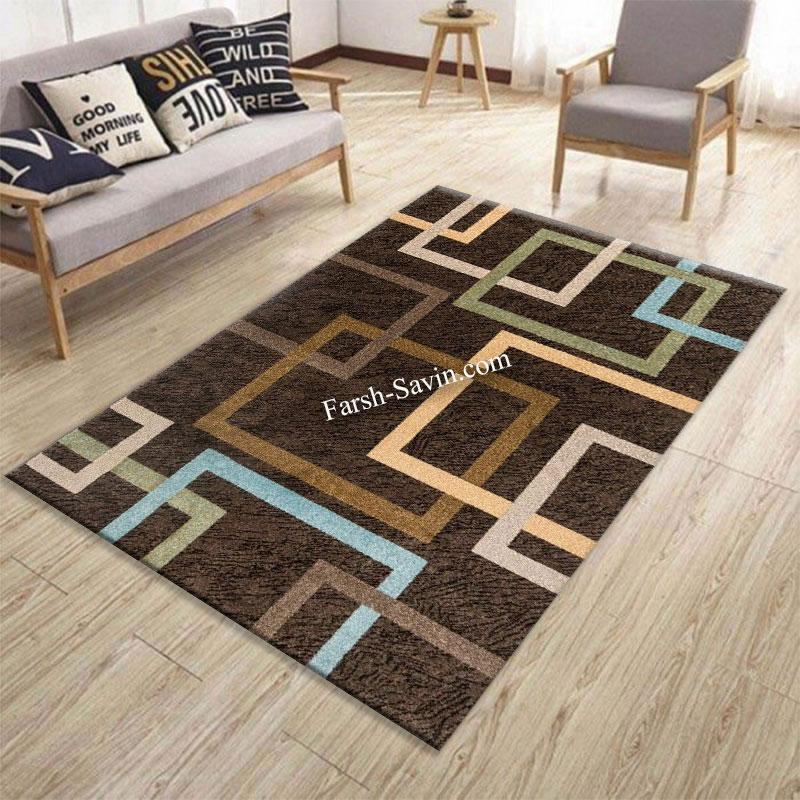 فرش ساوین 4003 نسکافه ای فرش مرغوب
