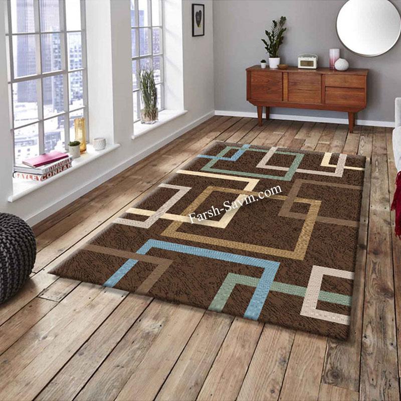 فرش ساوین 4003 نسکافه ای فرش مدرن