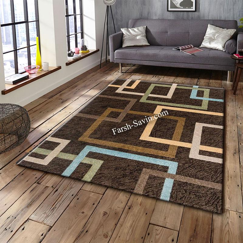 فرش ساوین 4003 نسکافه ای فرش با کیفیت