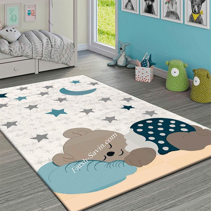 فرش ساوین 4035 فرش کودکانه ساوین