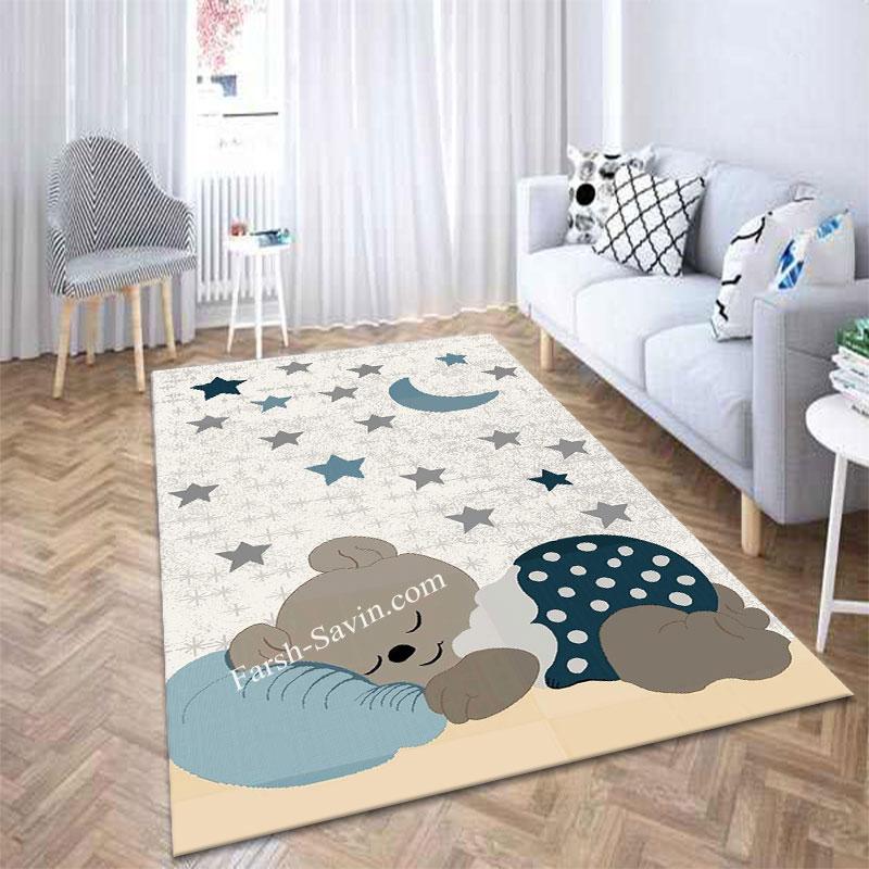 فرش ساوین خرس مهربان 4035 با قیمت مناسب
