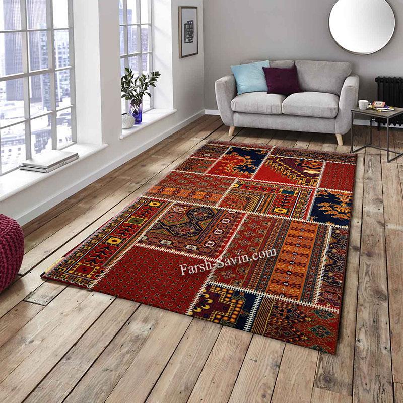 فرش ساوین چهل تیکه فرش اعلا