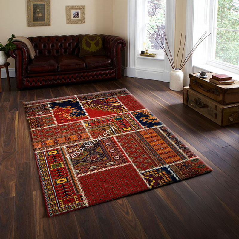 فرش ساوین چهل تیکه فرش قشقایی