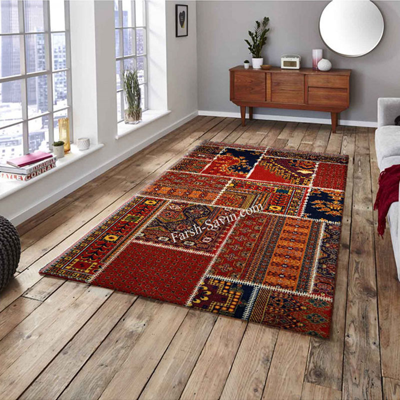 فرش ساوین چهل تیکه فرش گبه