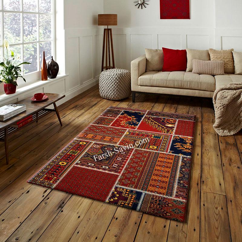 فرش ساوین چهل تیکه فرش زیبا و شیک