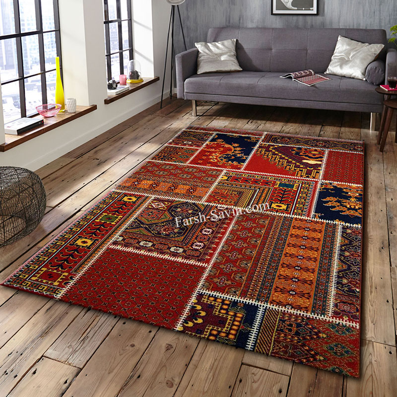 فرش ساوین چهل تیکه فرش بادوام
