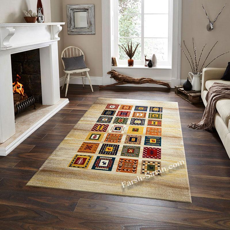 فرش ساوین مهر کرم فرش خوش نقشه