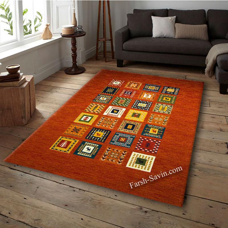 فرش ساوین فرش مهر لاکی فرش زیبا