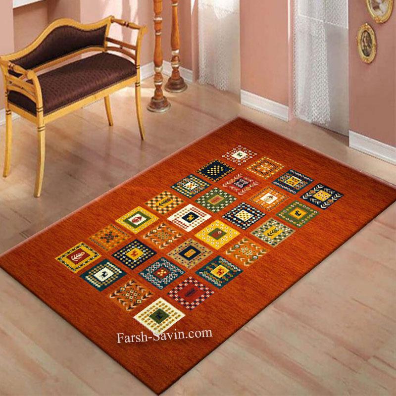 فرش ساوین فرش مهر لاکی فرش خوش نقشه