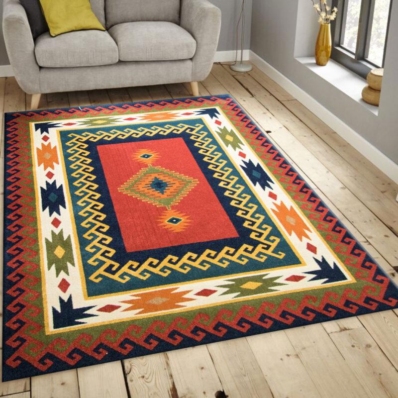 فرش ساوین پامچال سرمه ای فرش مرغوب