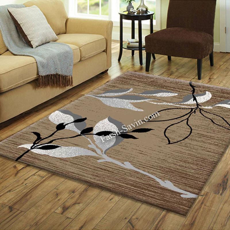 فرش ساوین 4000 شکلاتی فرش زیبا