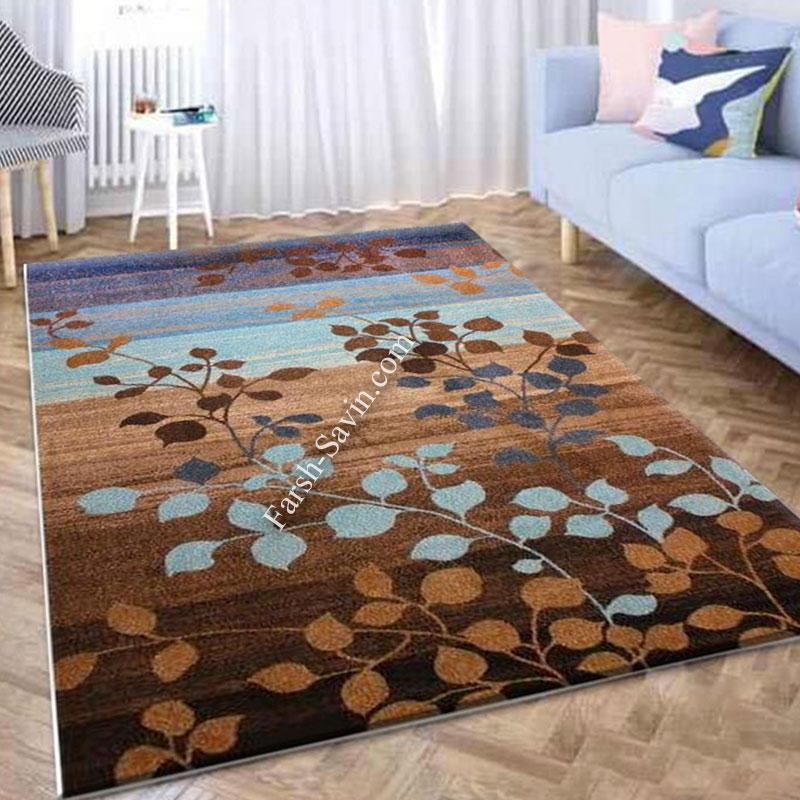 فرش ساوین 4001 شکلاتی فرش مناسب آشپزخانه