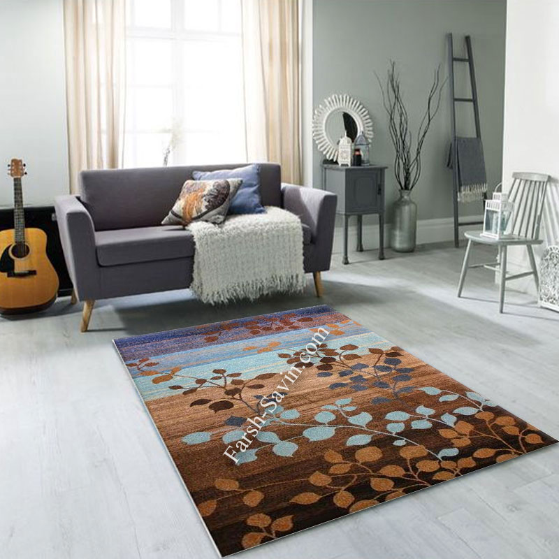فرش ساوین 4001 شکلاتی فرش با کیفیت