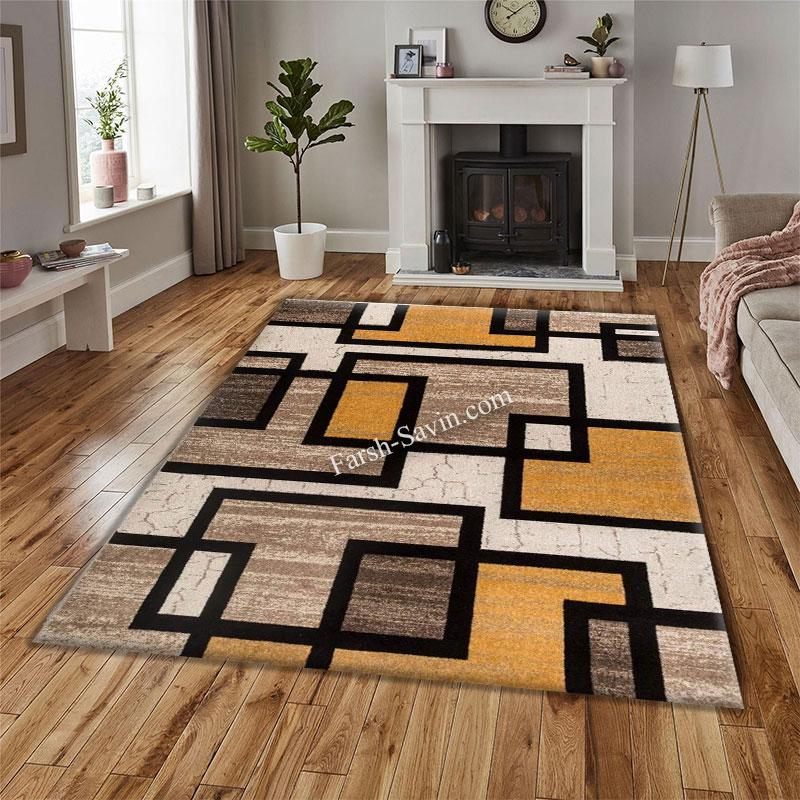 فرش ساوین 4004 کرم فرش ارزان