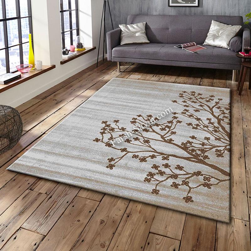 فرش ساوین 4006 نقره ای فرش ارزان