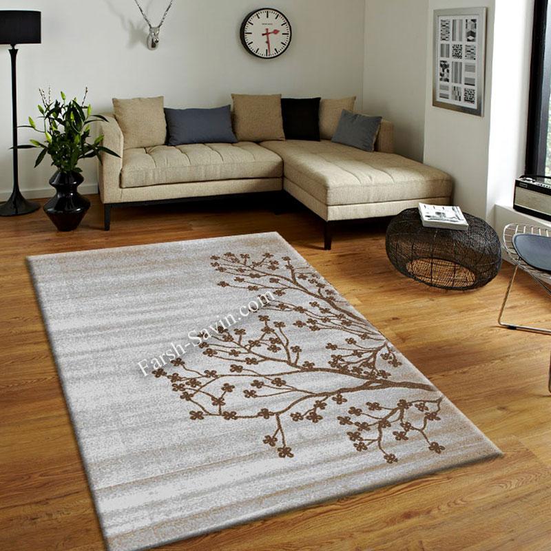 فرش ساوین 4006 نقره ای فرش های برتر