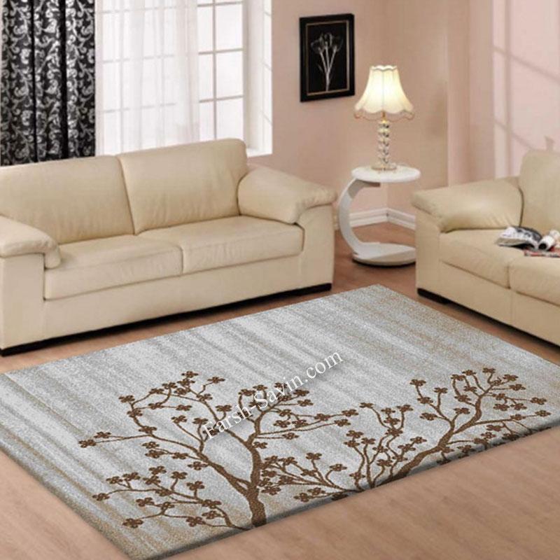 فرش ساوین 4006 نقره ای فرش مناسب آشپزخانه