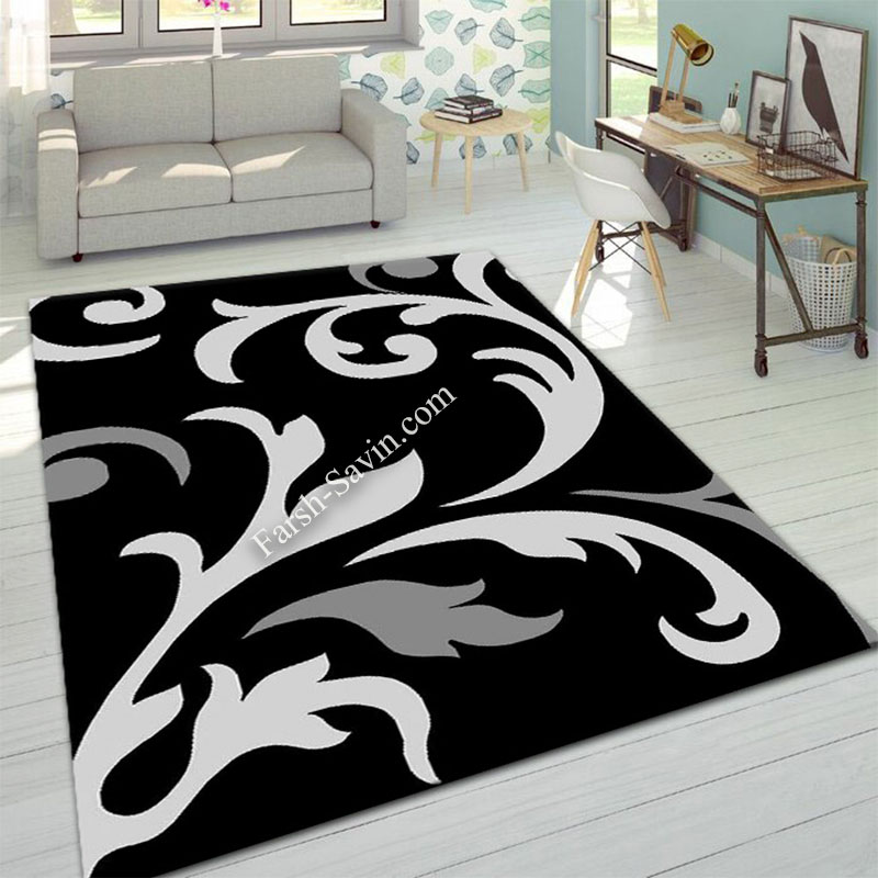 فرش ساوین 4009 مشکی فرش آشپزخانه