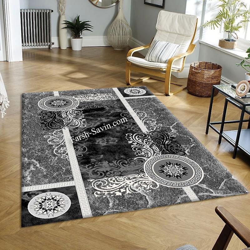 فرش ساوین 4010 مشکی  فرش آشپزخانه