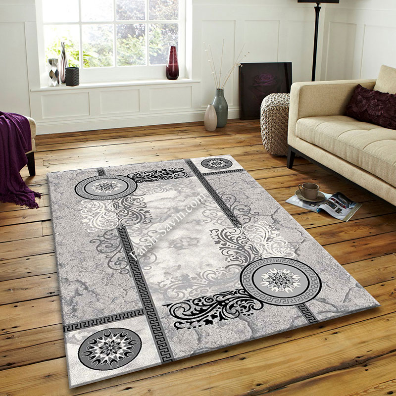 فرش ساوین 4010 نقره ای فرش با کیفیت