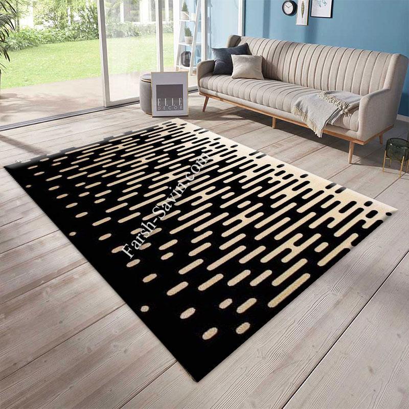 فرش ساوین 4020 مشکی فرش پر فروش