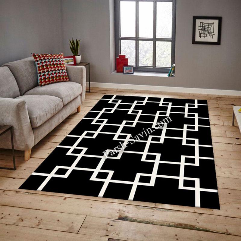 فرش ساوین 4023 مشکی فرش با دوام
