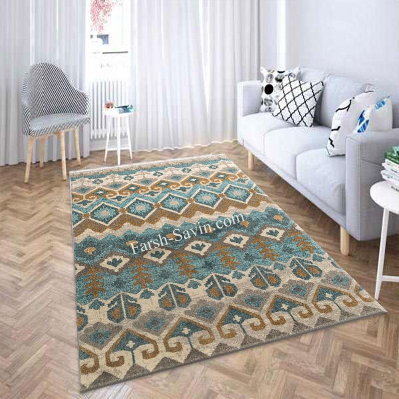 فرش ساوین 4033 کرم فرش پر طرفدار