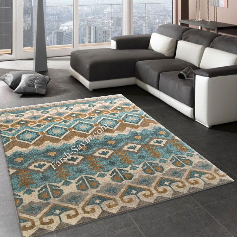 فرش ساوین 4033 کرم فرش پر فروش
