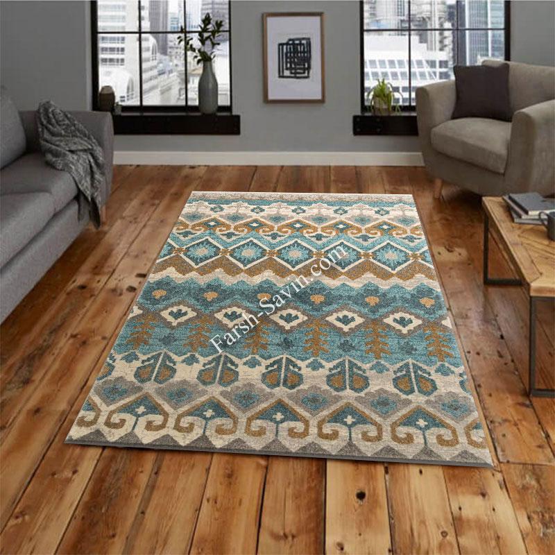 فرش ساوین 4033 کرم فرش باکیفیت