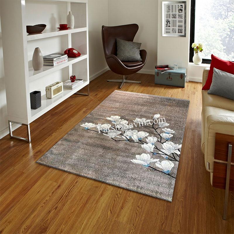 فرش ساوین 4037 شکلاتی فرش پر طرفدار