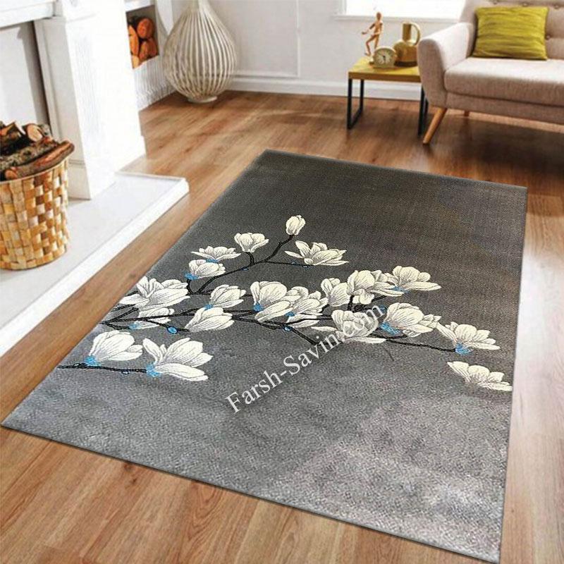 فرش ساوین 4037 نقره ای روشن فرش آشپزخانه